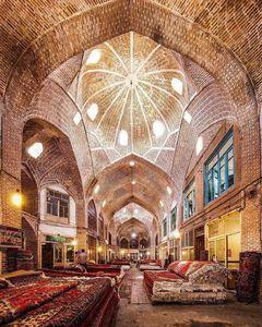 عکس/ نمایی زیبا از بازار فرش تبریز