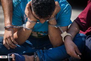 عکس/ بازداشت جمعی از سارقان تهران