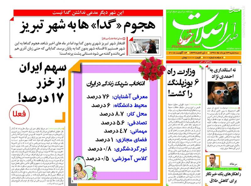 صدای اصلاحات: هجوم «گدا» ها به شهر تبریز