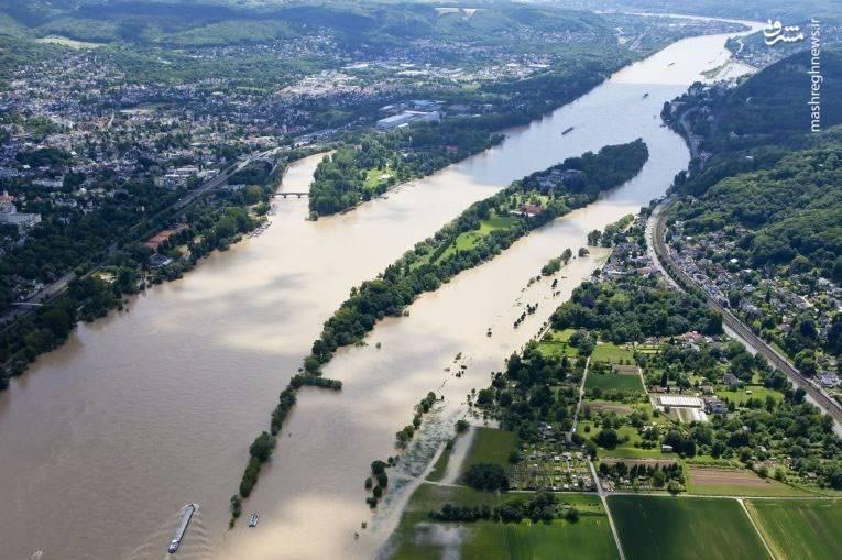 بخشی از رود راین که حالا به بیابان تبدیل شده پیشتر محل رفت و آمد کشتی بود