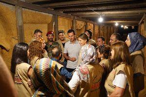 """عکس/""""بشار اسد""""و همسرش به تونل مرگ رفتند"""