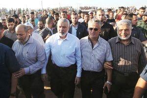عکس/ حضور رهبران حماس در راهپیمایی بزرگ بازگشت