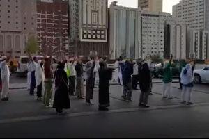 فیلم/ ورزش جالب حجاج اندونزیایی در مکه!