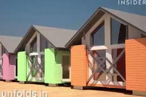 فیلم/ طراحی خانه های تاشو!