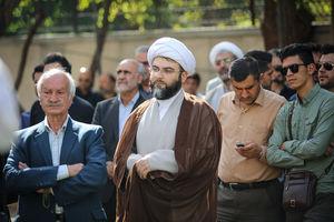 """عکس/ رئیس جدید سازمان تبلیغات در تشییع """"ضیاءالدین دُری"""""""
