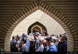 """عکس/  مراسم خاکسپاری """"ضیاءالدین دری"""""""