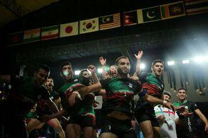 پیروزی مقتدرانه تیم ملی کبدی مردان ایران برابر پاکستان