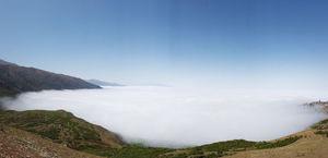 عکس/ دهکدهای معلق بر روی ابرها