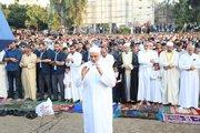 عکس/ اقامه نماز عیدقربان در نوار غزه