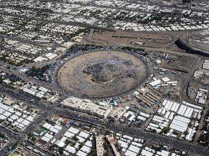 تصاویر هوایی از صحرای عرفات