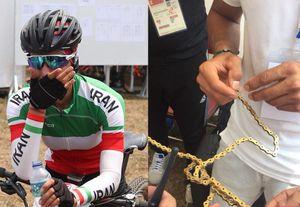 فیلم/ اشکهای بانوی رکابزن ایران پس از ناکامی در کسب مدال طلا