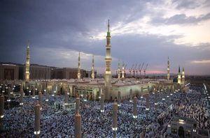 اقامه نماز عید قربان در مسجدالنبی