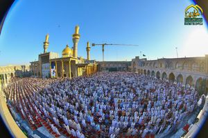 عکس/ صفوف زیبای نماز عید قربان در کاظمین
