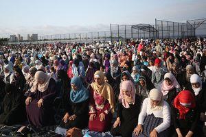 عکس/ برگزاری نماز عید قربان در آمریکا