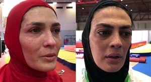 فیلم/ اشکهای الهه و شهربانو منصوریان پس از کسب مدال نقره
