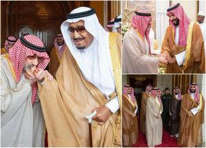 ولید بن طلال، میلیاردر معروف سعودی که چند ماهی است از بازداشت جنجالی رها شده، به دست بوسی سلمان رفت.