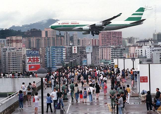 فرودگاه کای تک در شهر هنگ کنگ قرار دارد.