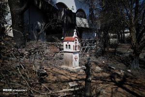 عکس/ خسارات گسترده آتش سوزی یونان