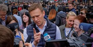 دستگیری رهبر حزب مخالف پوتین در مسکو