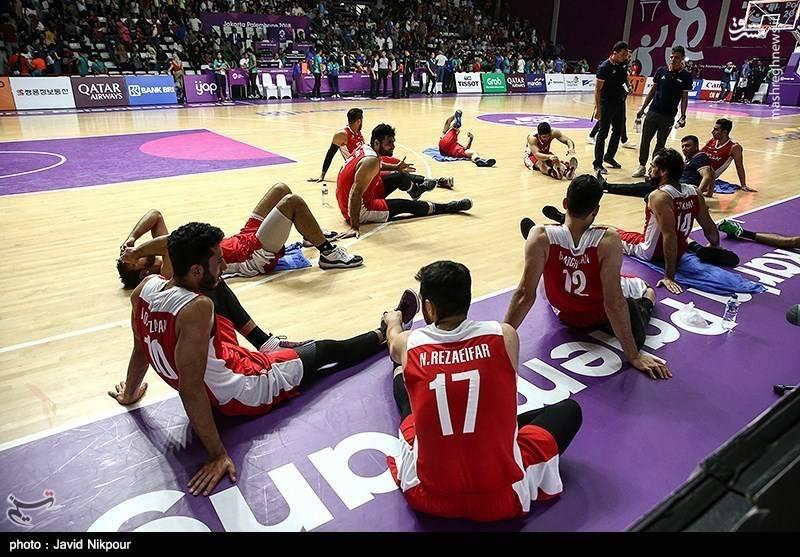دیدار تیمهای بسکتبال ایران و سوریه - بازیهای آسیایی ۲۰۱۸