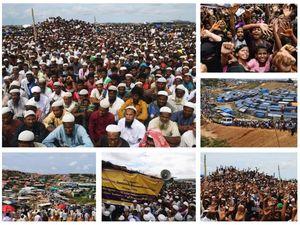 عکس/ تظاهرات گسترده آوارگان روهینگیا در بنگلادش