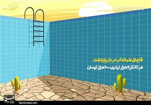 کاریکاتور/ قاچاق شبانه آب در دلپایتخت!