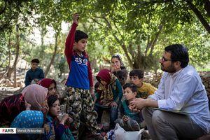 عکس/ روحانی قصهگو