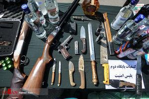 عکس/ سلاحهای کشفشده از اراذل تهرانی!