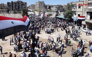 بازگشت هزاران آواره سوری به «داریا»