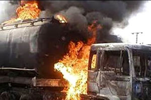 عکس/ آتش گرفتن تانکر سوخت در شهران تهران!