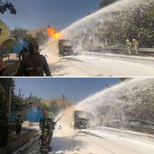 آتش سوزی تانکر