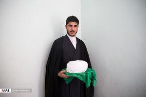 آئین عمامهگذاری طلاب مدرسه علمیه امام رضا(ع)