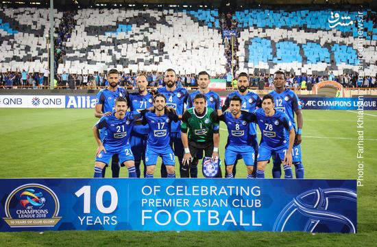 عکس/ دیدار رفت تیمهای استقلال ایران و السد قطر