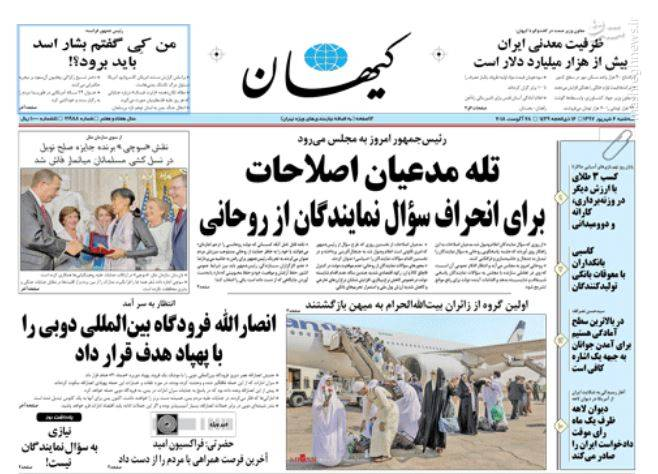 کیهان: تله مدعیان اصلاحات برای انحراف سوال نمایندگان از روحانی