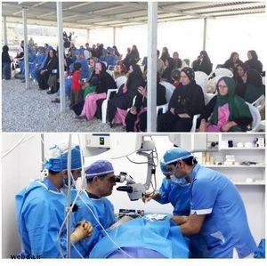 عمل جراحی چشم وزیر بهداشت در سفر به ثلاث باباجانی - کرمانشاه