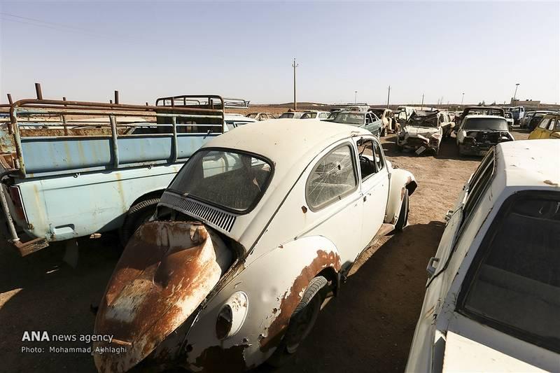 قیمت خودرو اسقاطی پراید ٩۵ مشرق نیوز - عکس/ گورستان ماشینهای تهران