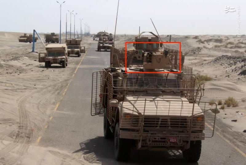 امرپ اماراتی مجهز به سامانه Samson Dual در جنوب یمن- تاریخ تصویر احتمالا مربوط به سال ۲۰۱۵ میلادی