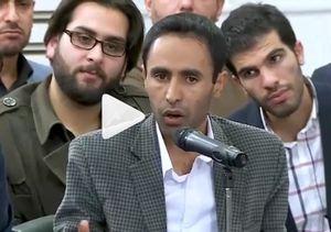 فیلم/ شعرخوانی در مدح علی(ع) در محضر رهبر انقلاب