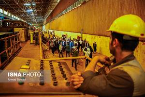 لاریجانی در شرکت فولادسازی