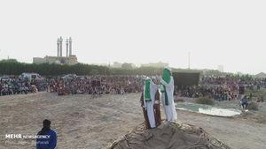 عکس/ بازسازی واقعه غدیر خم در قشم