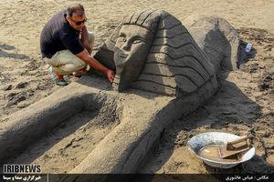عکس/ جشنواره مجسمههای شنی در لنگرود