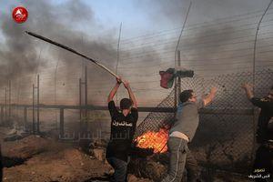 زخمی در تظاهرات بازگشت فلسطینیان