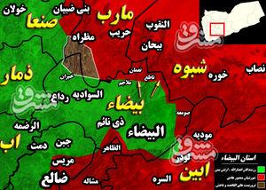 آخرین تحولات میدانی استان البیضاء یمن؛ « ناطع و قانیه»، گورستانهایی برای نیروهای شورشی + نقشه میدانی