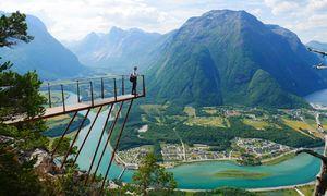 چشم اندازی زیبا از طبیعت نروژ