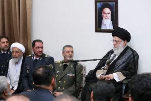 عکس/ دیدار فرماندهان قرارگاه خاتم الانبیاء با رهبرانقلاب