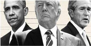 انتقادهای تند اوباما و بوش از ترامپ