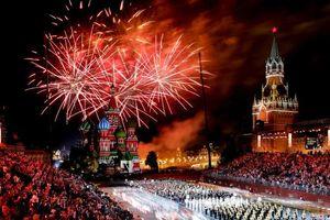 عکس/ جشنواره موسیقی نظامی در مسکو