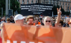 عکس/ تظاهرات در حمایت از پذیرش پناهجویان در آلمان