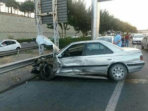 تصادف ۷ خودرو در جاده تهران ـ کرج