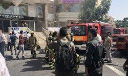 آتش سوزی یک برج  مسکونی-اداری در تهران +عکس
